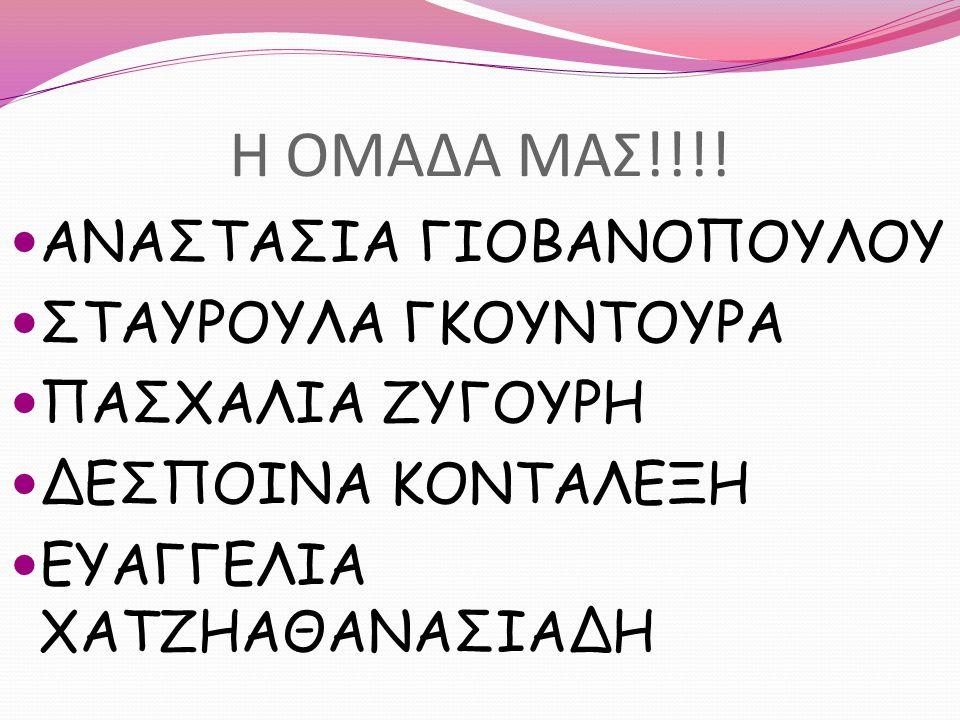 Η ΟΜΑΔΑ ΜΑΣ!!!! ΑΝΑΣΤΑΣΙΑ ΓΙΟΒΑΝΟΠΟΥΛΟΥ ΣΤΑΥΡΟΥΛΑ ΓΚΟΥΝΤΟΥΡΑ