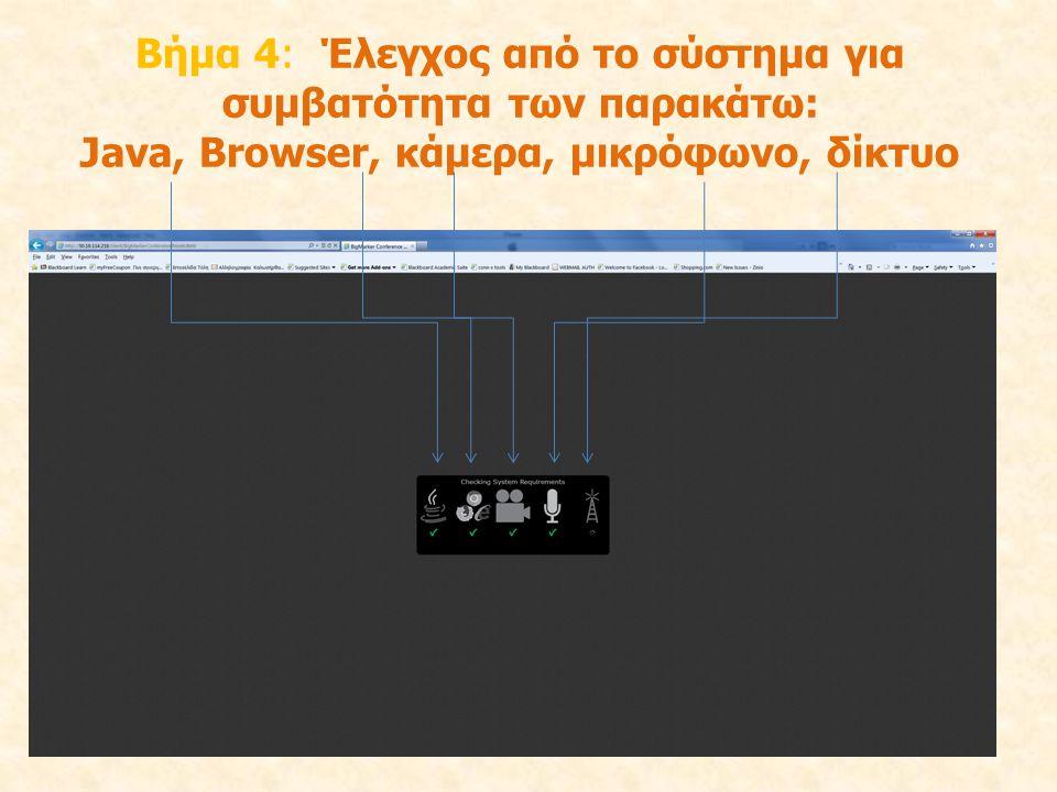 Java, Browser, κάμερα, μικρόφωνο, δίκτυο