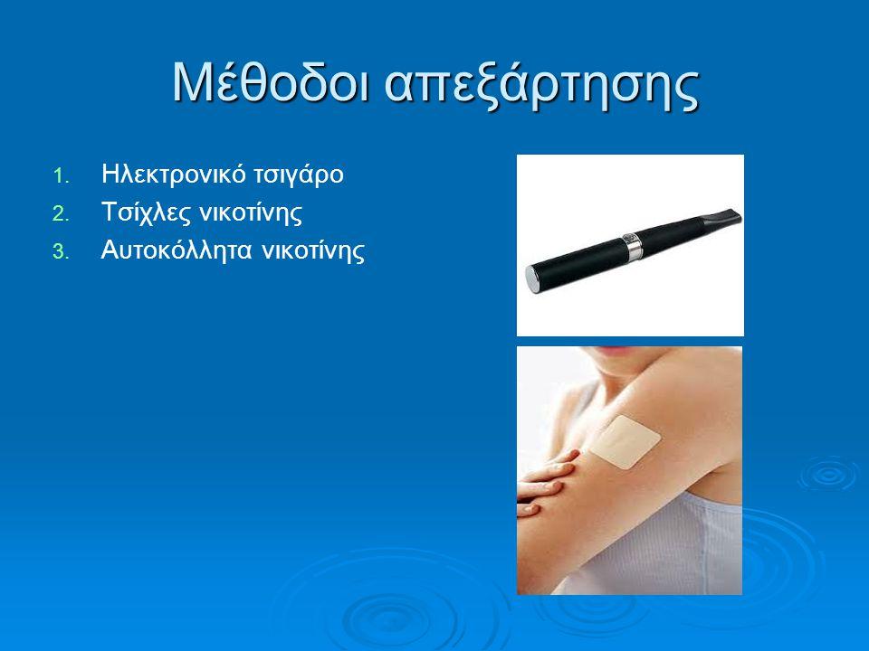 Μέθοδοι απεξάρτησης Ηλεκτρονικό τσιγάρο Τσίχλες νικοτίνης