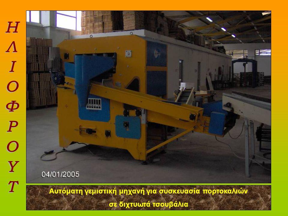 Αυτόματη γεμιστική μηχανή για συσκευασία πορτοκαλιών