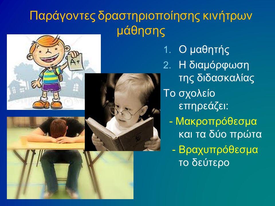 Παράγοντες δραστηριοποίησης κινήτρων μάθησης