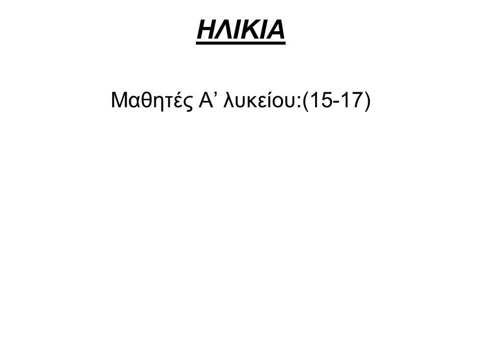 Μαθητές Α' λυκείου:(15-17)