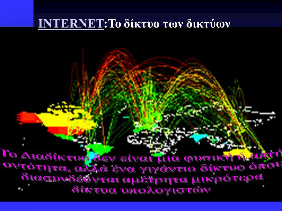 INTERNET:Το δίκτυο των δικτύων