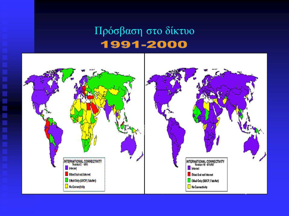 Πρόσβαση στο δίκτυο 1991-2000