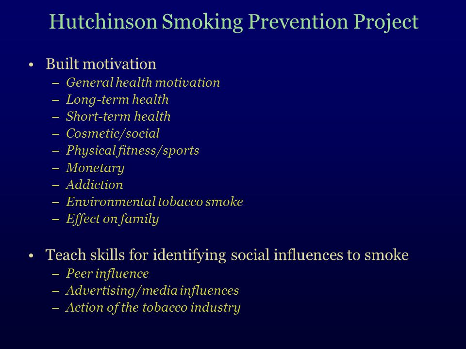 Hutchinson Smoking Prevention Project
