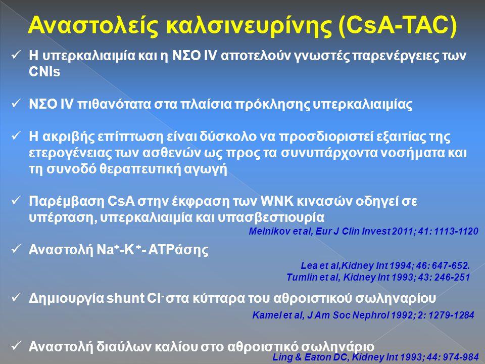Αναστολείς καλσινευρίνης (CsA-TAC)