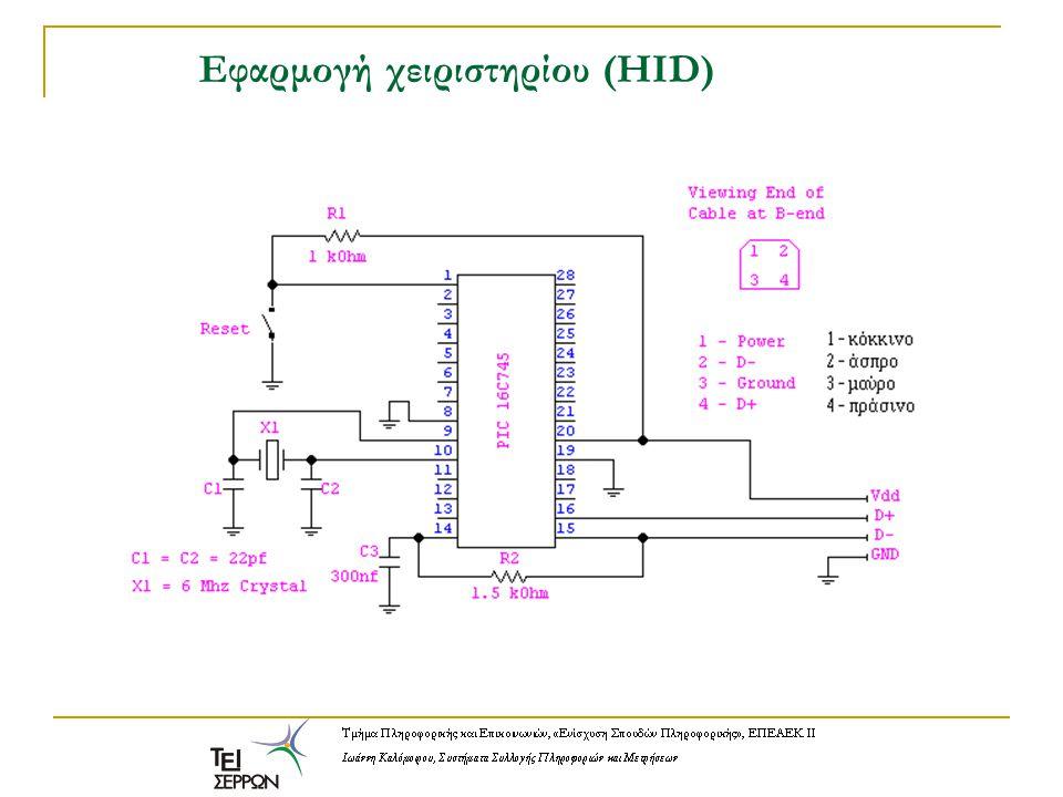 Εφαρμογή χειριστηρίου (HID)