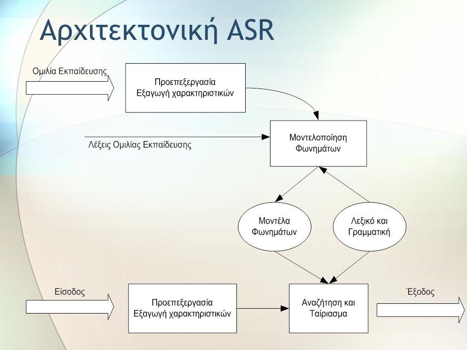 Αρχιτεκτονική ASR
