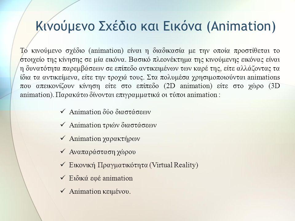 Κινούμενο Σχέδιο και Εικόνα (Animation)