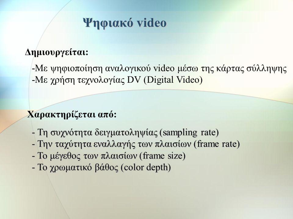 Ψηφιακό video Δημιουργείται: