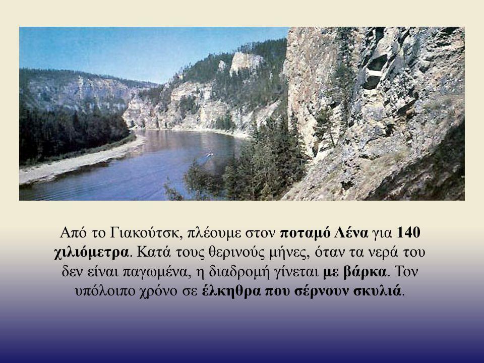 Από το Γιακούτσκ, πλέουμε στον ποταμό Λένα για 140 χιλιόμετρα