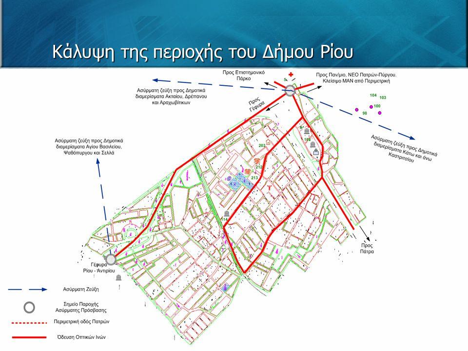 Κάλυψη της περιοχής του Δήμου Ρίου