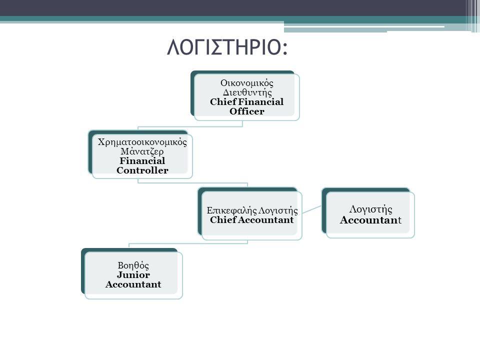 ΛΟΓΙΣΤΗΡΙΟ: Λογιστής Accountant