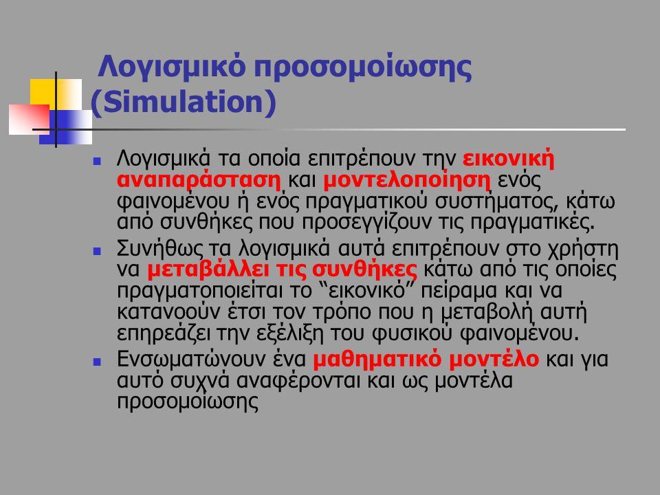 Λογισμικό προσομοίωσης (Simulation)