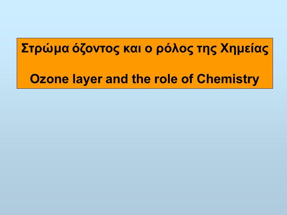 Στρώμα όζοντος και ο ρόλος της Χημείας