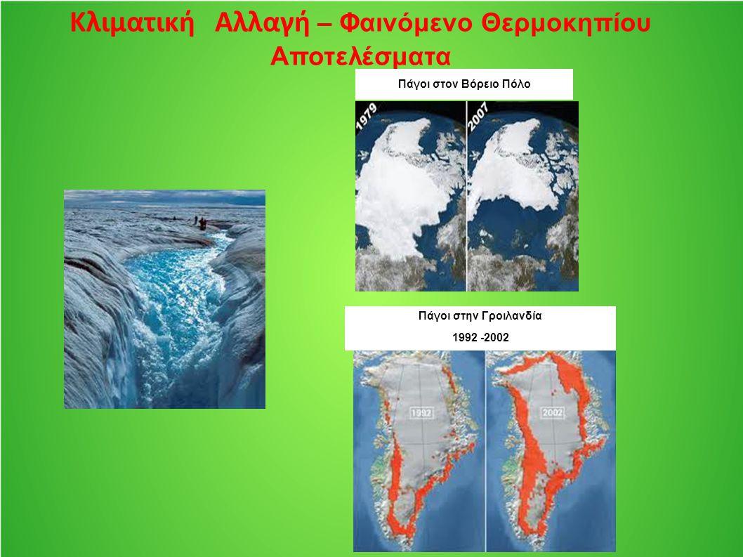 Κλιματική Αλλαγή – Φαινόμενο Θερμοκηπίου Αποτελέσματα