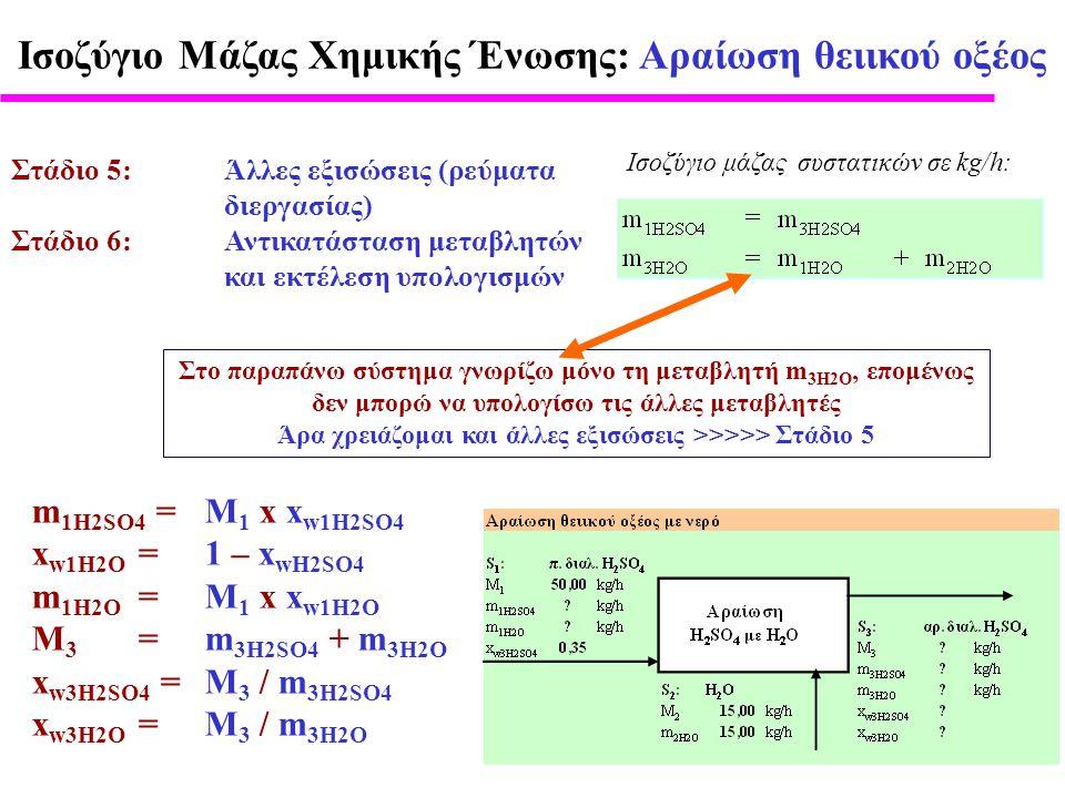 Άρα χρειάζομαι και άλλες εξισώσεις >>>>> Στάδιο 5