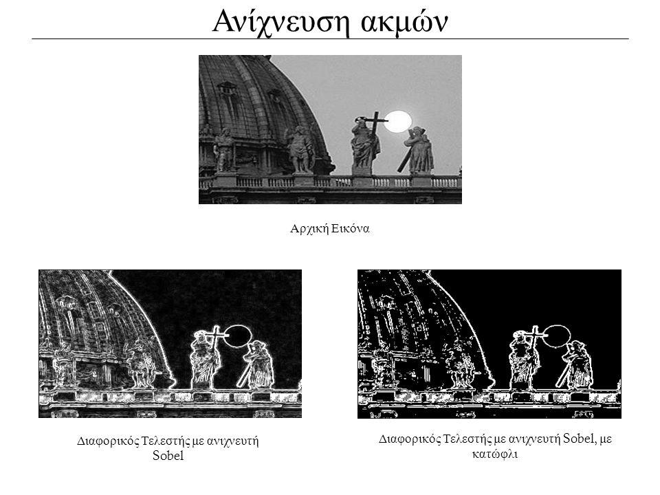 Ανίχνευση ακμών Αρχική Εικόνα