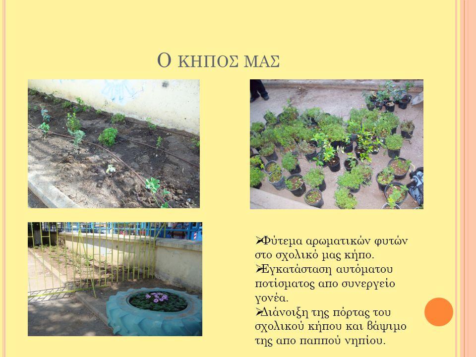 Ο κηποσ μασ Φύτεμα αρωματικών φυτών στο σχολικό μας κήπο.