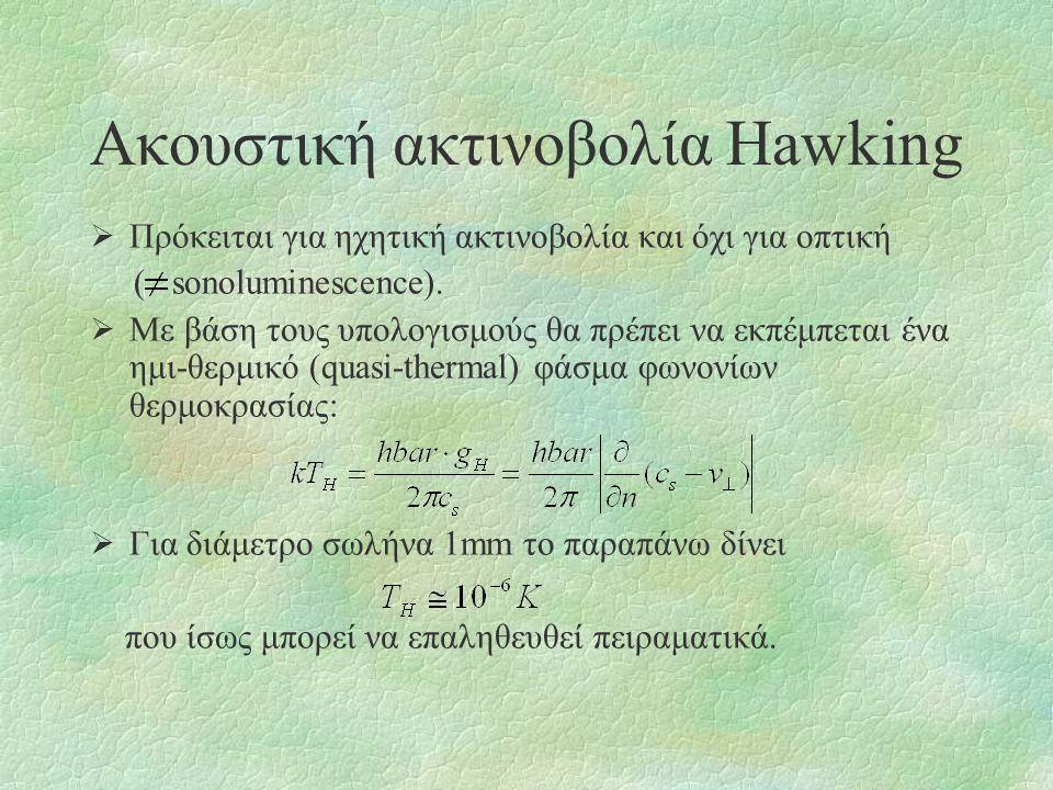 Ακουστική ακτινοβολία Hawking
