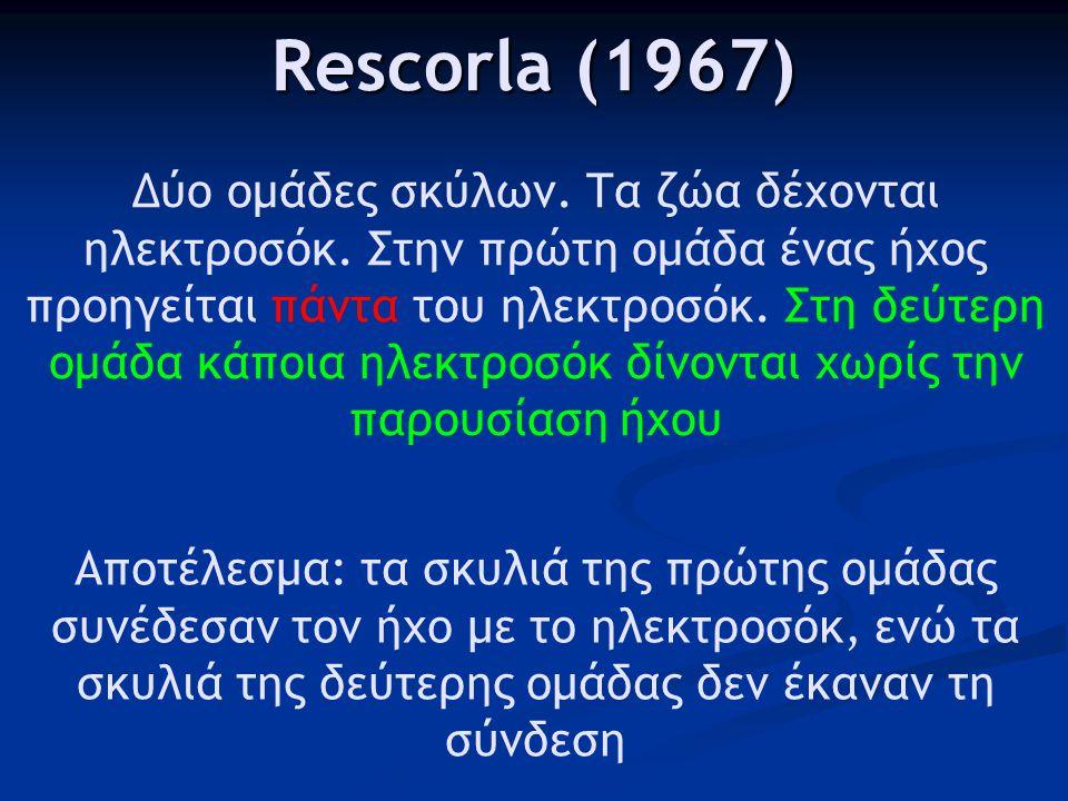 Rescorla (1967)