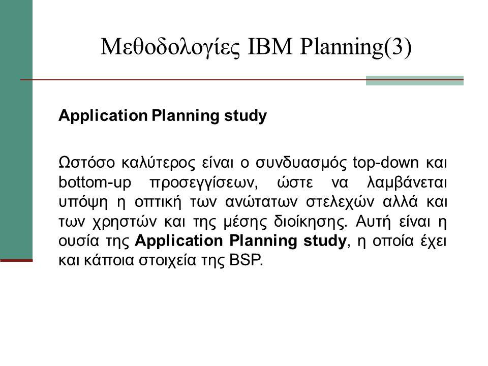 Μεθοδολογίες ΙΒΜ Planning(3)