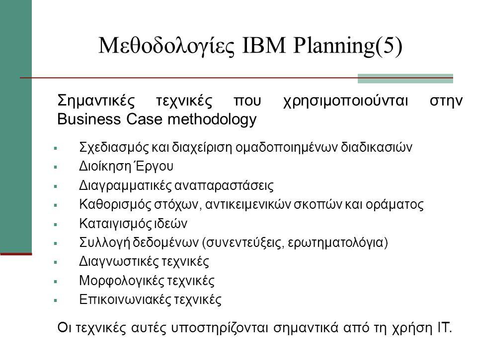 Μεθοδολογίες ΙΒΜ Planning(5)