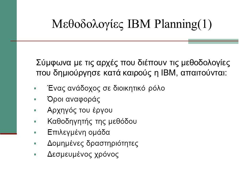 Μεθοδολογίες ΙΒΜ Planning(1)