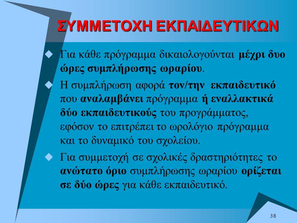 ΣΥΜΜΕΤΟΧΗ ΕΚΠΑΙΔΕΥΤΙΚΩΝ
