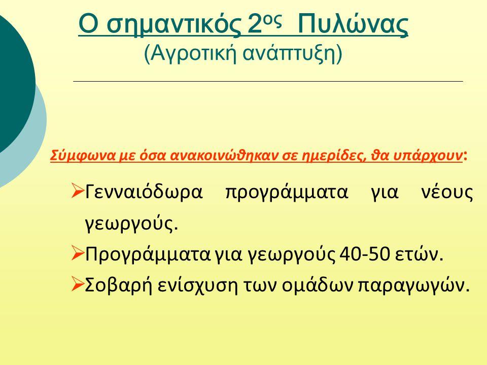 Ο σημαντικός 2ος Πυλώνας (Αγροτική ανάπτυξη)