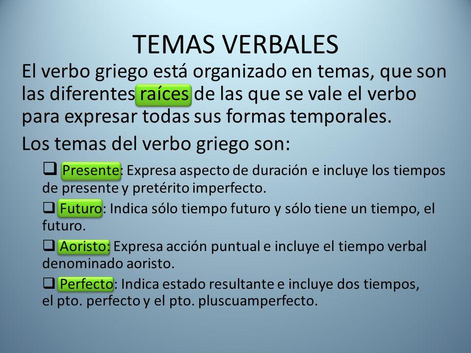 TEMAS VERBALES