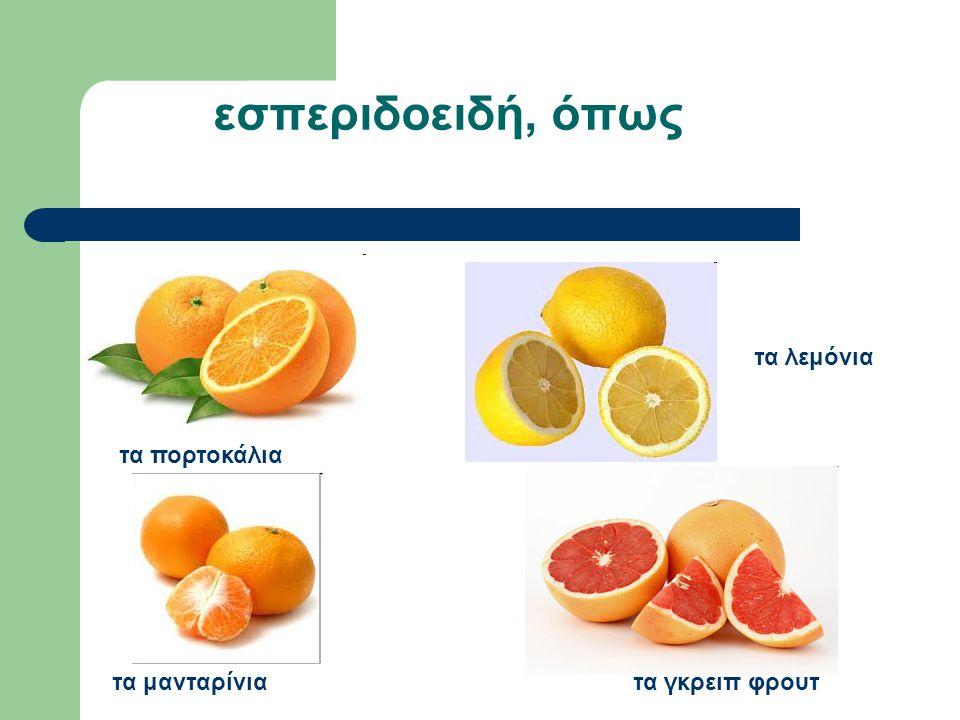 εσπεριδοειδή, όπως τα λεμόνια τα πορτοκάλια τα μανταρίνια