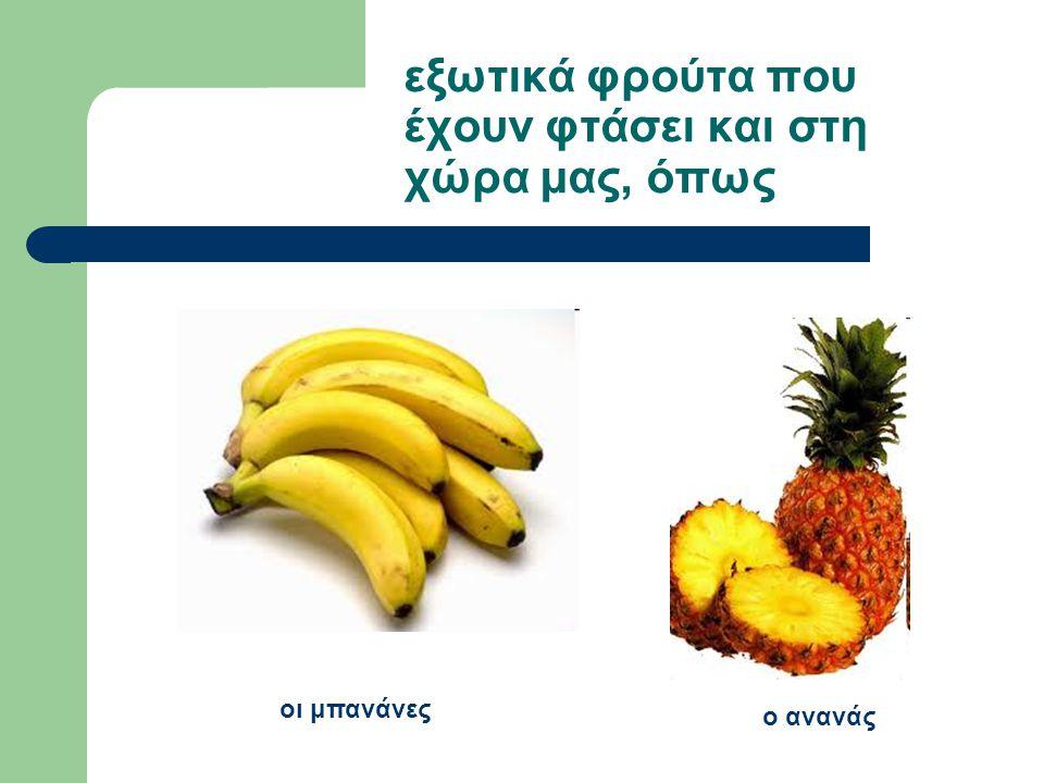 εξωτικά φρούτα που έχουν φτάσει και στη χώρα μας, όπως