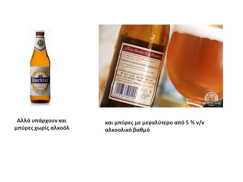 Αλλά υπάρχουν και μπύρες χωρίς αλκοόλ