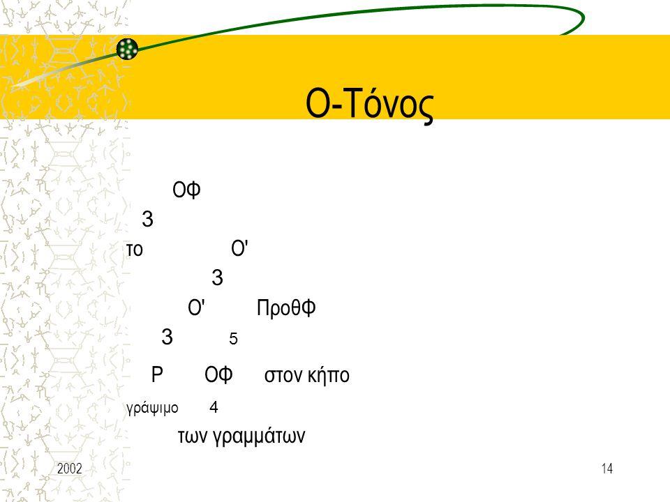 Ο-Τόνος Ρ ΟΦ στον κήπο ΟΦ 3 το Ο Ο ΠροθΦ 3 5 γράψιμο 4 των γραμμάτων