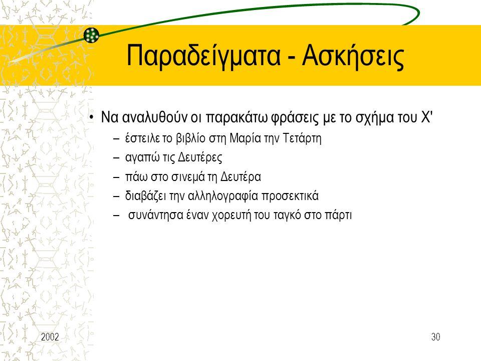 Παραδείγματα - Ασκήσεις