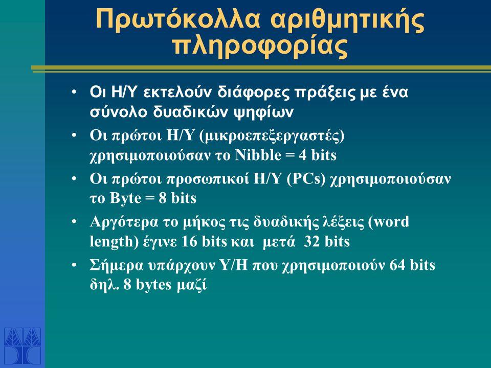 Πρωτόκολλα αριθμητικής πληροφορίας
