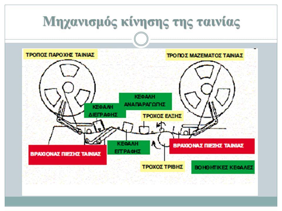 Μηχανισμός κίνησης της ταινίας