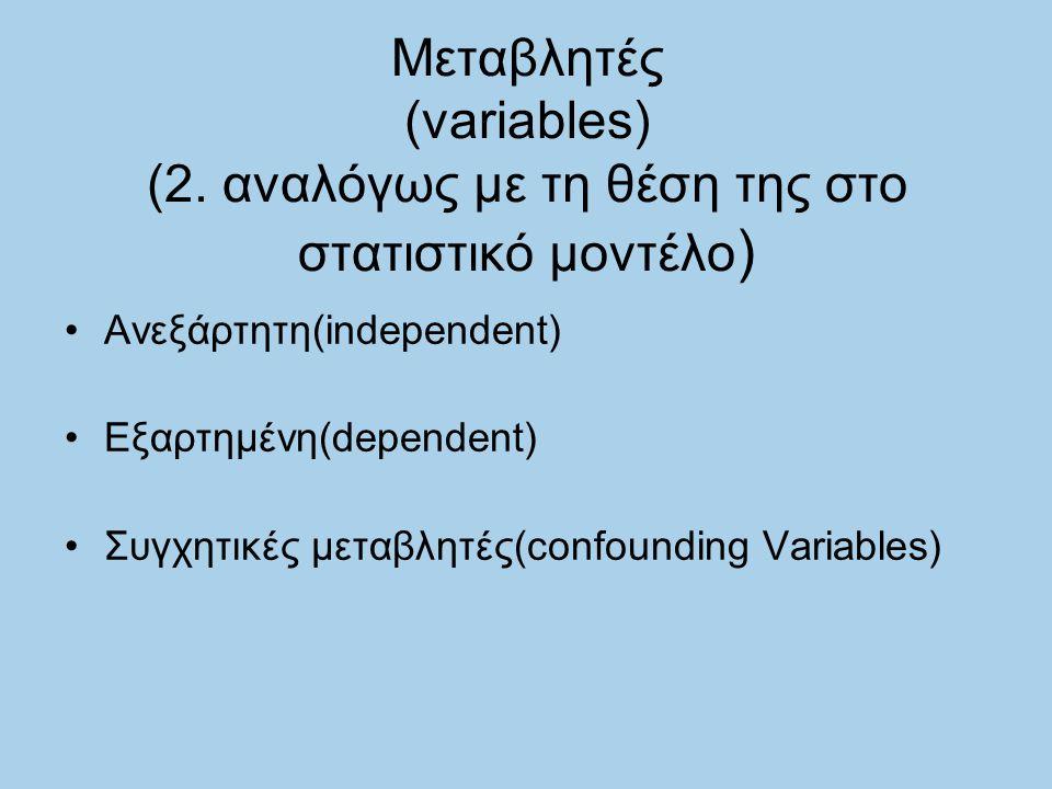 Μεταβλητές (variables) (2