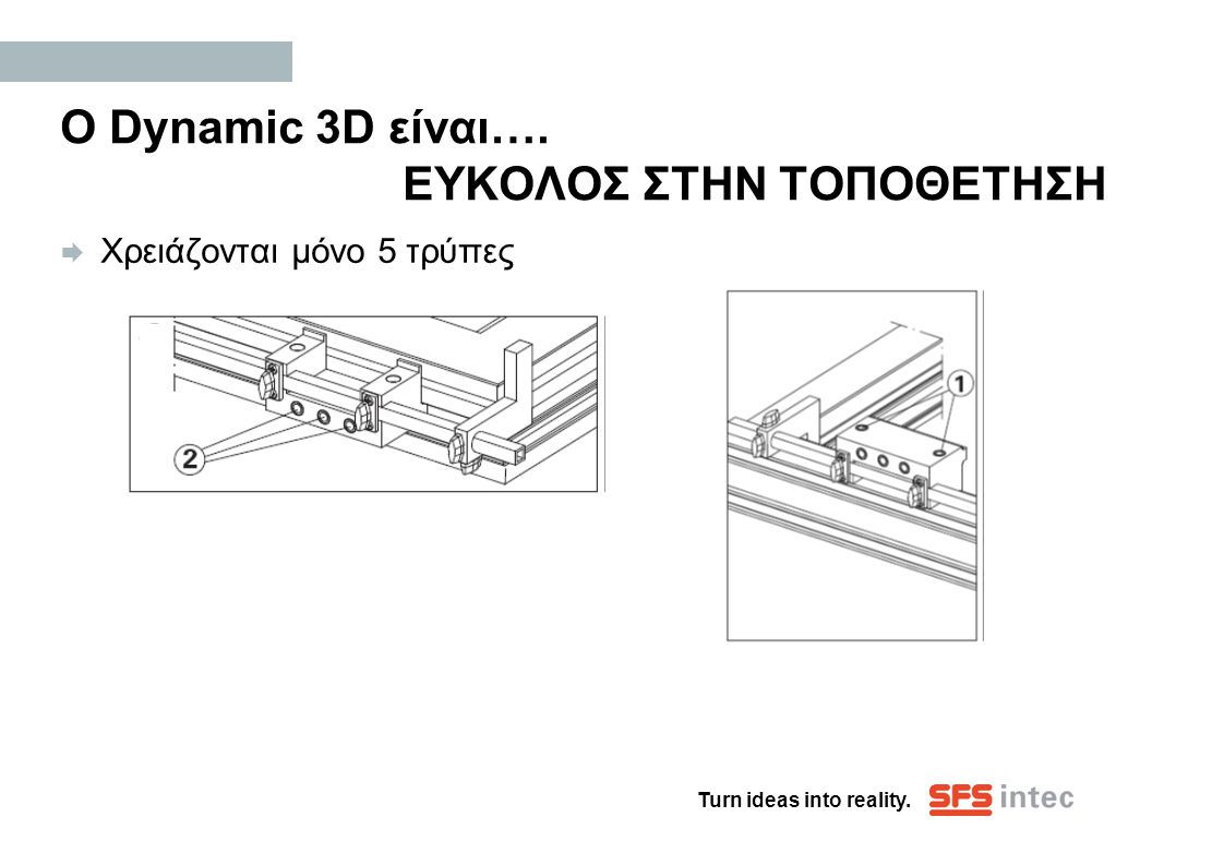 Ο Dynamic 3D είναι…. ΕΥΚΟΛΟΣ ΣΤΗΝ ΤΟΠΟΘΕΤΗΣΗ