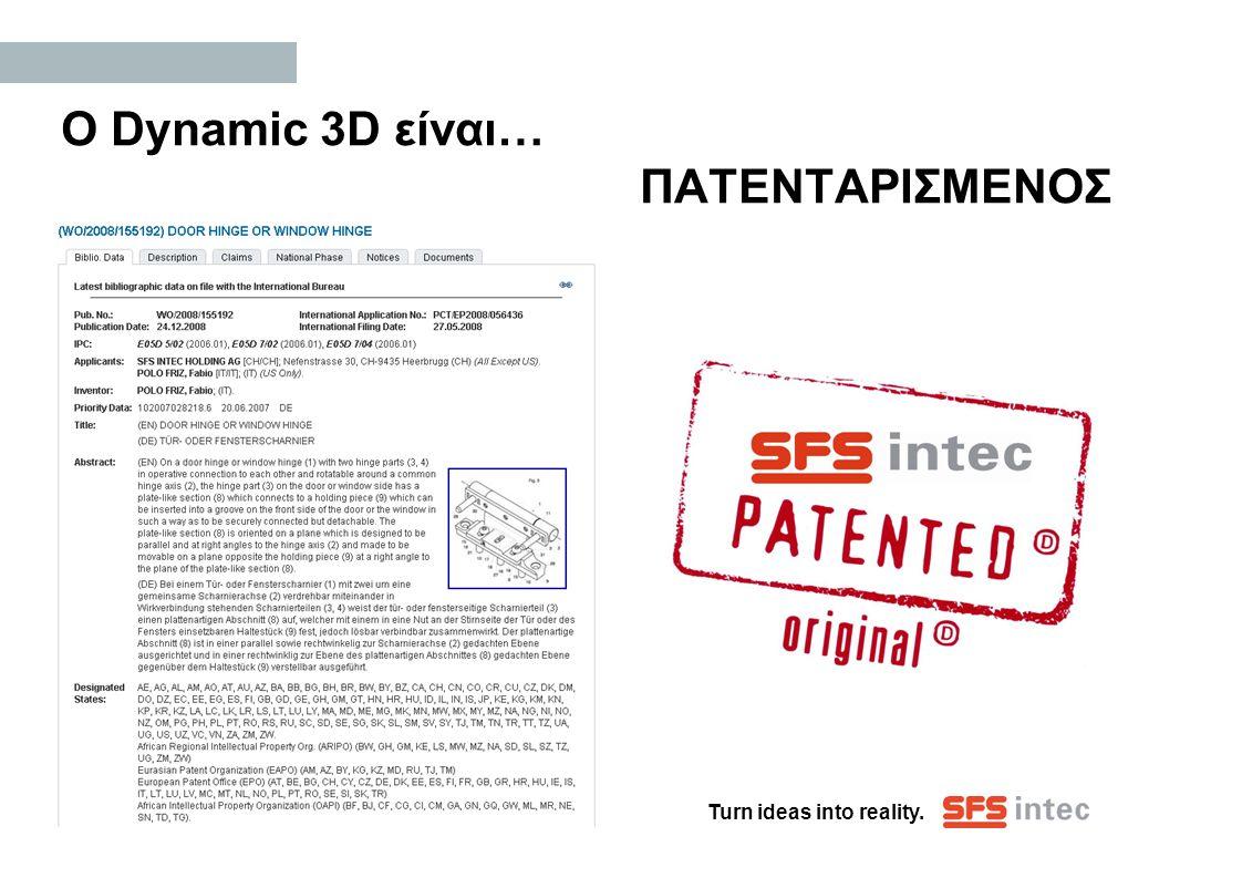 Ο Dynamic 3D είναι… ΠΑΤΕΝΤΑΡΙΣΜΕΝΟΣ