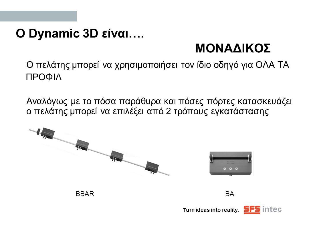 Ο Dynamic 3D είναι…. ΜΟΝΑΔΙΚΟΣ