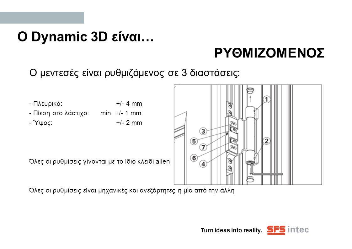 Ο Dynamic 3D είναι… ΡΥΘΜΙΖΟΜΕΝΟΣ