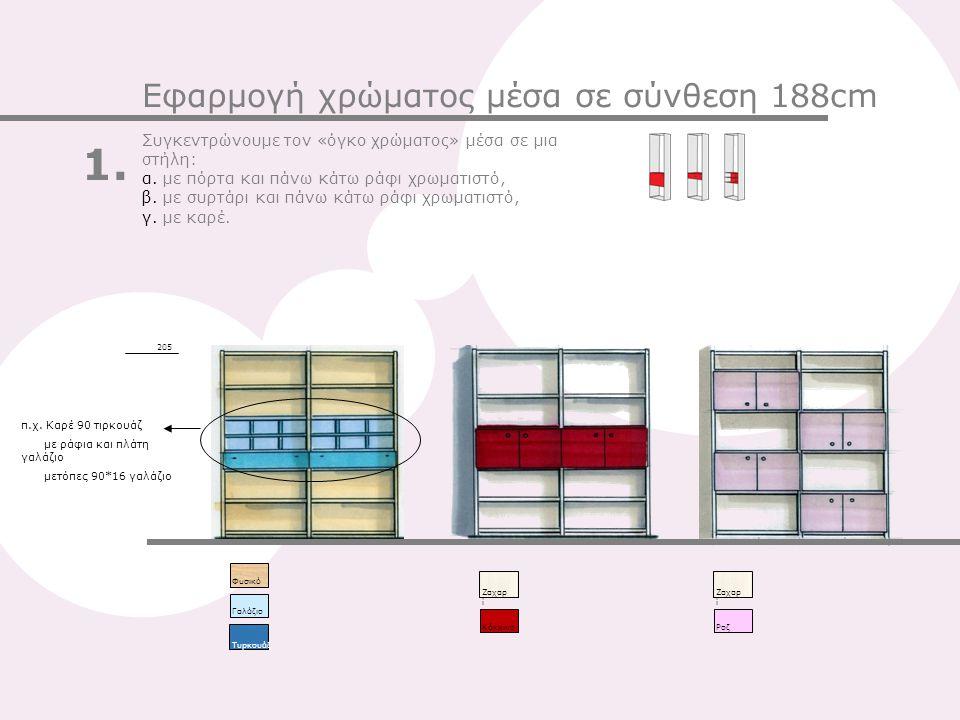 1. Εφαρμογή χρώματος μέσα σε σύνθεση 188cm