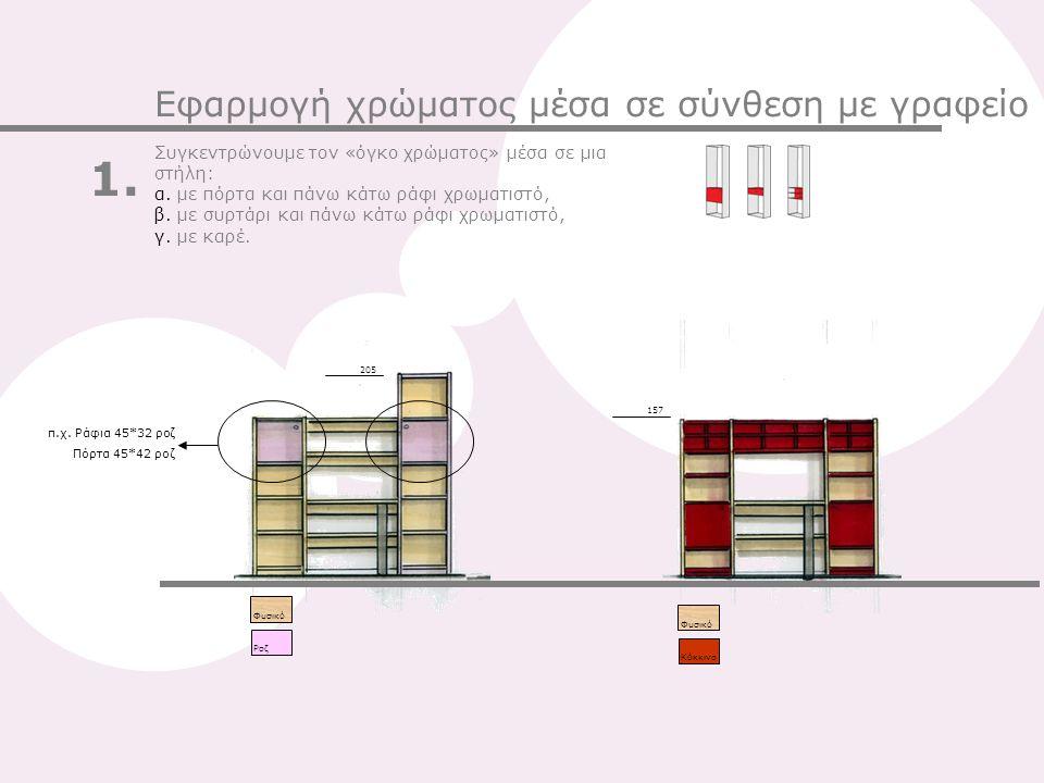 1. Εφαρμογή χρώματος μέσα σε σύνθεση με γραφείο