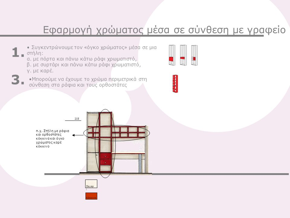 1. 3. Εφαρμογή χρώματος μέσα σε σύνθεση με γραφείο