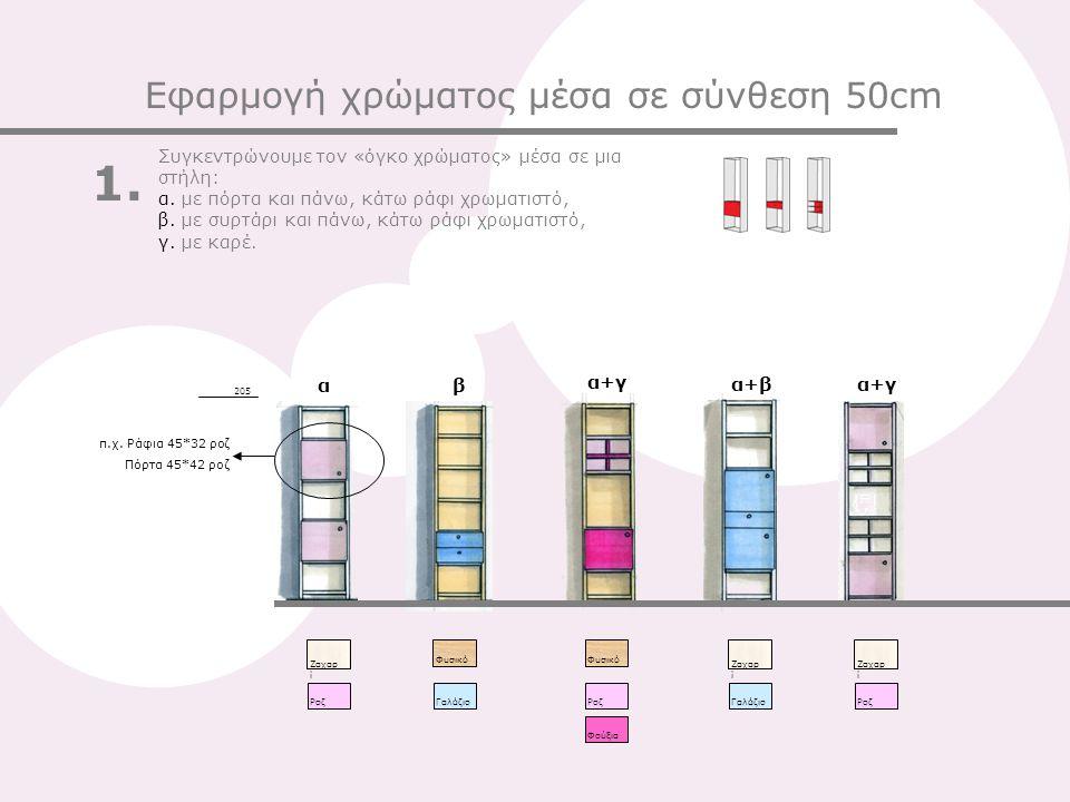 1. Εφαρμογή χρώματος μέσα σε σύνθεση 50cm