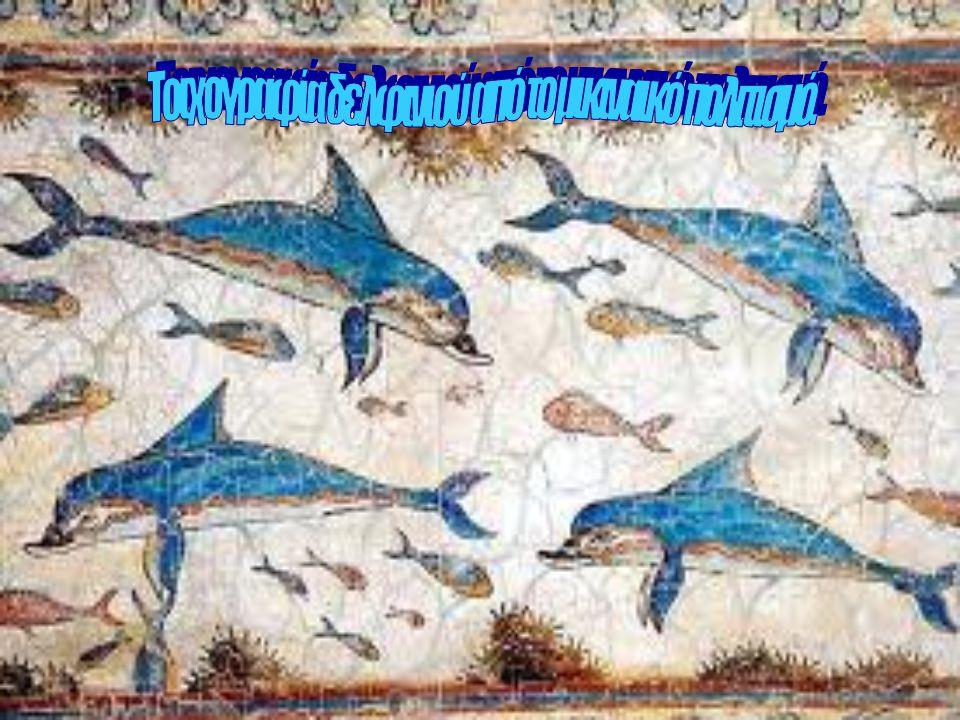 Τοιχογραφία δελφινιού από το μικιναικό πολιτισμό.