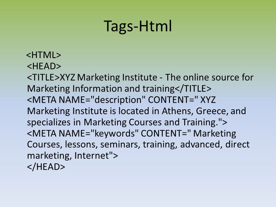 Tags-Html