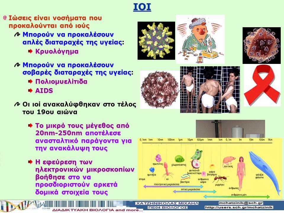 IΟΙ Ιώσεις είναι νοσήματα που προκαλούνται από ιούς